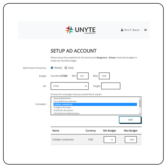 Unyte account setup